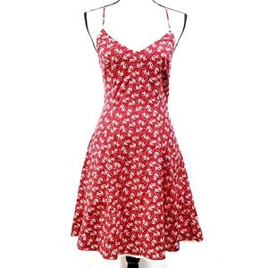 Vintage Betsey Johnson Dress Red White Anchors